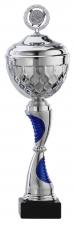 Sportbeker|Bokaal A1069 zilver met blauw accent (serie van 6)