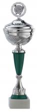 Sportbeker|Bokaal A1074 zilver met groen accent (serie van 6)