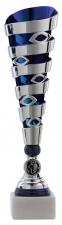 Sportprijs|Standaard A1079 zilver met blauw accent