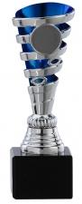 Sportprijs|Standaard A1086 zilver met blauw accent