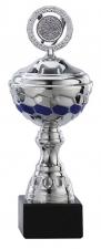 Sportbeker|Bokaal A1103 zilver met blauw accent (serie van 6)