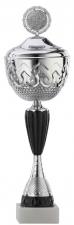 Sportbeker|Bokaal A4014 zilver met zwart accent (serie van 12)