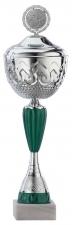 Sportbeker|Bokaal A4016 zilver met groen accent (serie van 12)