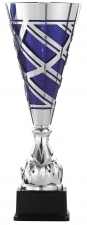 Trofee|Wisselbeker A6003 metaal zilver blauw (serie van 3)