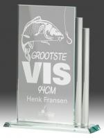 B328 Glazen standaard incl. gravering (serie van 3)