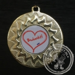 Medaille Bedankt goud met gravering of label