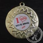 Beste Oppas Medaille goud met gravering of label