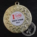 Beste Studie Hulp Medaille goud met gravering of label