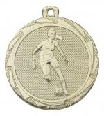 Medaille damesvoetbal E3005 goud/zilver/brons (45mm)