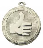 Medaille duim omhoog E3015  goud, zilver of brons (45mm)
