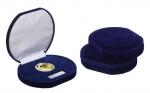 Luxe Medailledoosje E8002 donkerblauw fluweel