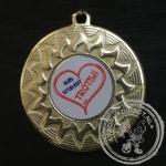 Huis Student Trots Medaille goud met gravering of label