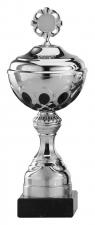 Sportbeker|Bokaal A1009 zilver met zwart accent (serie van 6)