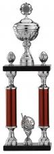 Grote trofee A1010 met 2 pilaren en figuur (serie van 3)