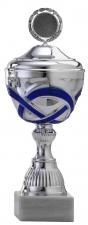Sportbeker|Bokaal A4007 zilver met blauw accent (serie van 12)