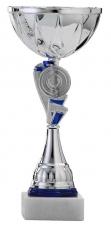 Sportbeker|Bokaal A4010 zilver met blauw accent (serie van 12)