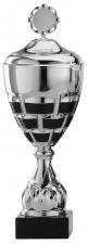 Grote sportbeker A5000 zilver met zwart accent (serie van 6)