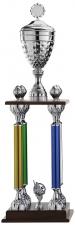 Grote Trofee A6001 met 4 pilaren en figuur (serie van 3)
