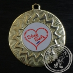 Stay Safe Medaille goud met gravering of label