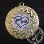 Super Broer Medaille goud met gravering of label