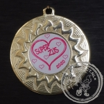 Super Zus Medaille goud met gravering of label