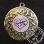 Medaille (T) huiswerk Kanjer goud met gravering of label
