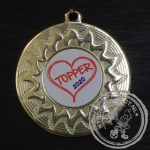 Topper Medaille goud met gravering of label