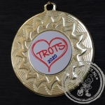 Trots Medaille goud met gravering of label
