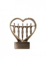 Bronzen beeld MA570 Hart voor mensen