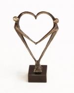 Bronzen beeld MA367 Hart voor elkaar