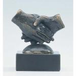 "Bronzen beeld MA319 ""samenwerken"""