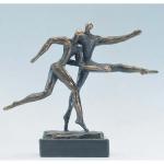 """Bronzen beeld MA322  """"voorsprong"""""""