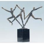 """Bronzen beeld MA328  """"een dynamisch team"""""""