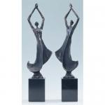 """Bronzen beelden MA333 """"Een goede ontwikkeling"""" (set van 2)"""
