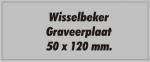 GROTE KUNSTSTOF GRAVEERPLAAT 50x120 mm