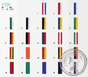 Halslinten smal E7200 voor medailles (23 kleuren)