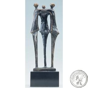 """Bronzen beeld MA332 """"op hoog niveau"""""""