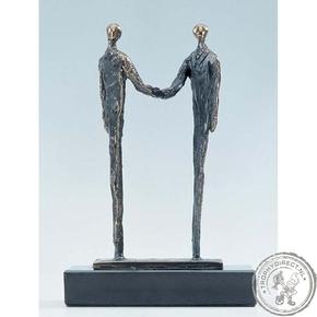 """Bronzen beeld MA297 """"afspraak"""""""