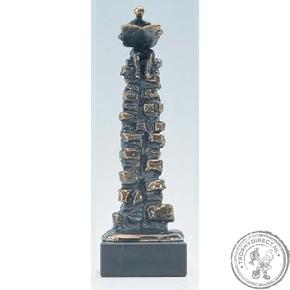 """Bronzen beeld MA311 """"een steengoede positie"""""""