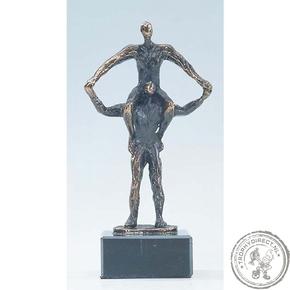 """Bronzen beeld MA302 """"tillen"""""""