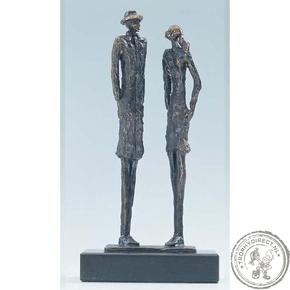 """Bronzen beeld MA353 """"in overleg"""""""