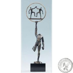 """Bronzen beeld MA352 """"sterk door samenwerking"""""""