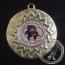 Berenjacht.Medaille met gravering of label