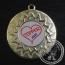 Topper Medaille goud met gravering of label