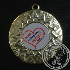 Super verpleegkundige PROUD Medaille goud met gravering of label