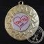 Trots Medaille goud met gravering of label