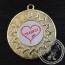 Thanks Medaille goud met gravering of label