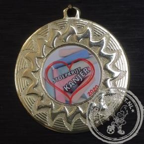 Stoepkrijt Kanjer Medaille goud met gravering of label