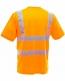 fluo t-shirt oranje achterzijde